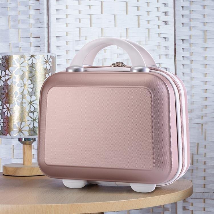 印制LOGO小旅行箱女化妝箱包韓版收納包14寸迷你行李箱小手提箱16