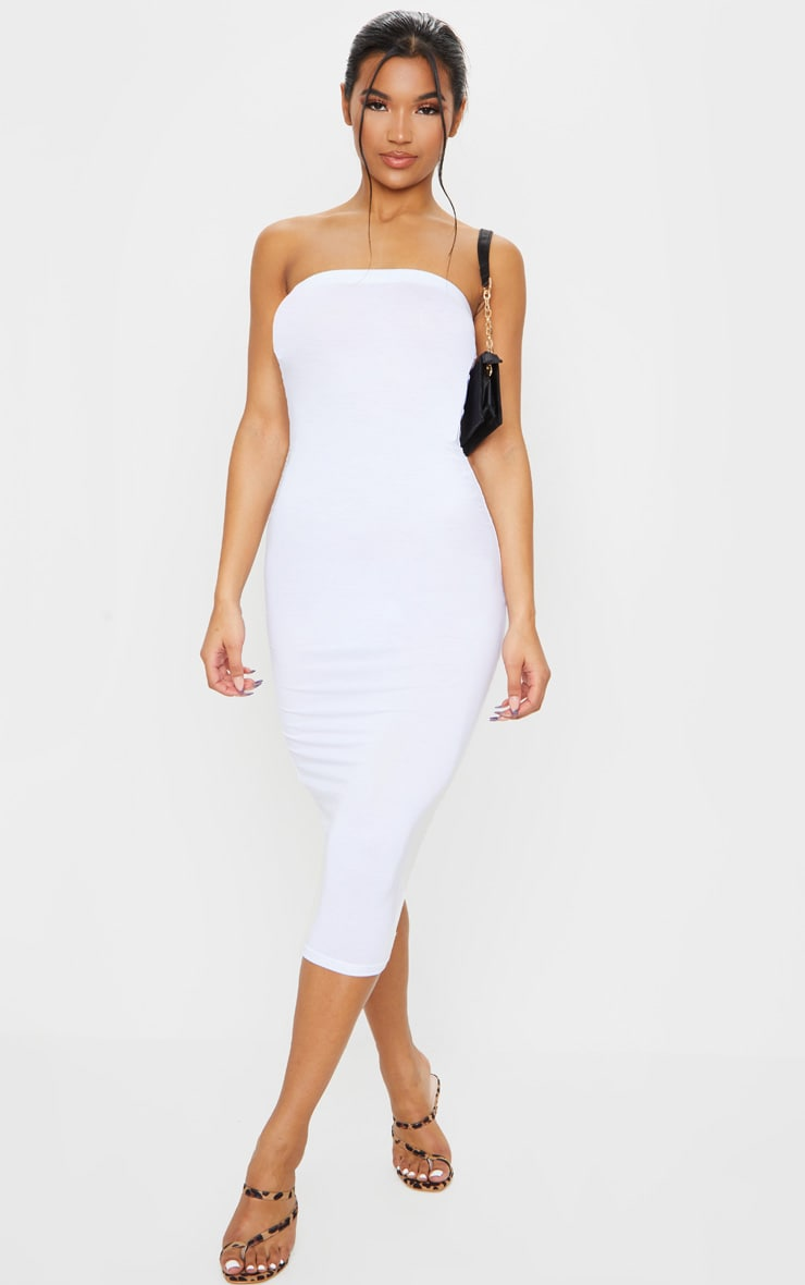 White Bandeau Midaxi Dress
