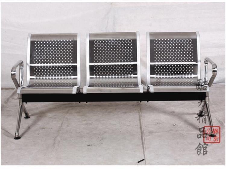 三人位排椅銀行不銹鋼機場長椅休息等候醫院候診椅公共連體鐵座椅CY