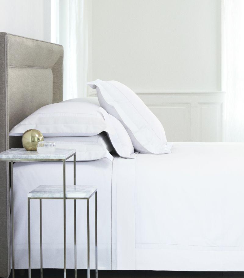 Yves Delorme Lutece Blanc Double Duvet Cover (200Cm X 200Cm)