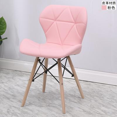 伊姆斯椅 北歐實木餐椅現代簡約化妝椅創意矮背椅休閒家用靠背椅伊姆斯椅子家用『XY3721』