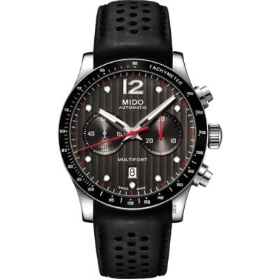 MIDO美度 Multifort 先鋒計時機械錶-黑/44mm  M0256271606100