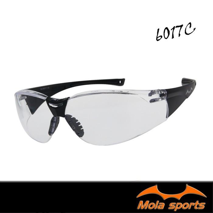 mola摩拉護目鏡 運動安全眼鏡 透明鏡片 防飛沫防風防沙防塵 男女 6017c