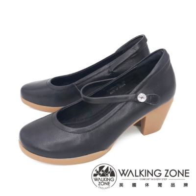 WALKING ZONE(女)復古瑪麗珍鞋 包鞋 高跟鞋 淑女鞋- 黑(另有米)