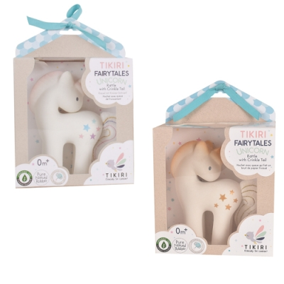 【TIKIRI 斯里蘭卡】沙沙聲固齒器玩具 (獨腳獸) 2色可選