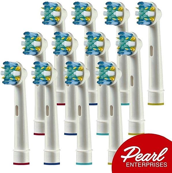 【美國代購】專業牙線動作博朗電動牙刷頭12件裝-相容 7000 Pro