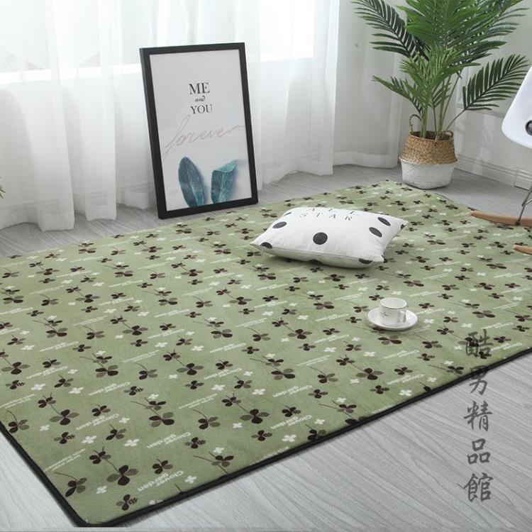 北歐珊瑚絨地毯客廳沙發毯臥室房間滿鋪地毯床邊地墊榻榻米飄窗墊