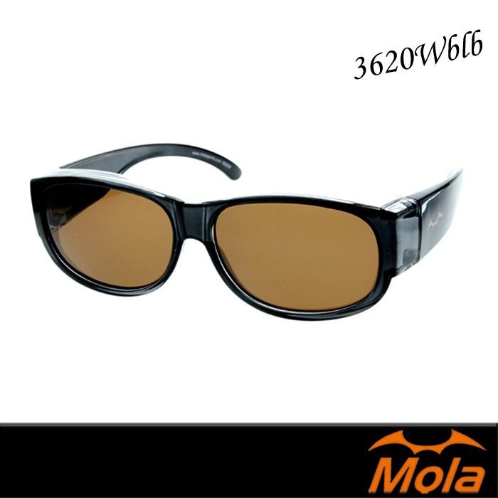 mola摩拉近視外掛式偏光太陽眼鏡 老花可戴 3620wblb