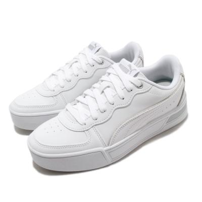 Puma 休閒鞋 Skye Metallic 運動 女鞋 基本款 簡約 舒適 厚底 皮革 穿搭 白 銀 37479701
