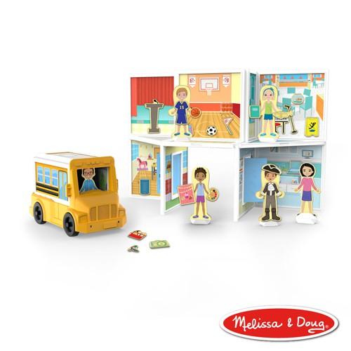 【美國瑪莉莎 Melissa & Doug 】磁力建構娃娃屋, 學校