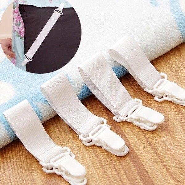 實用防滑床單固定扣 扣器 夾式 重複使用 創意 房間 鬆緊 彈性 四個裝 ♚MY COLOR♚【Z007-1】