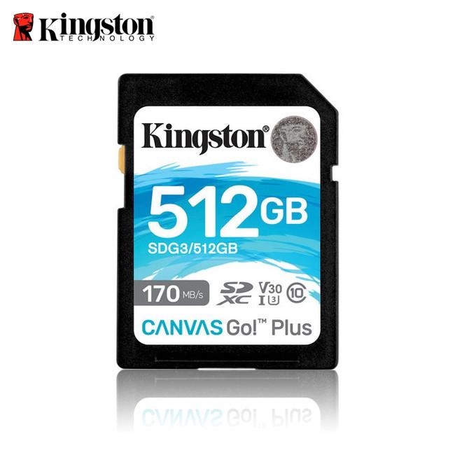 金士頓 512G 新版 Kingston Canvas Go Plus UHS-I U3 4K 記憶卡 保固公司貨
