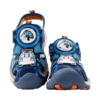 男童POLI授權波力款護趾防撞閃燈運動涼鞋 sa01136 魔法Baby