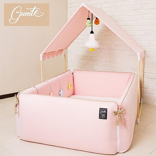 gunite 沙發嬰兒床全套組 安撫陪睡式0-6歲(巴黎粉)贈床邊遊戲吊飾玩具組[衛立兒生活館]