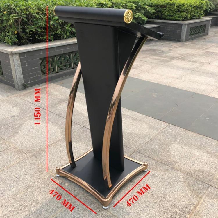 不銹鋼講臺桌創意演講臺發言小型前臺簡約現代迎賓接待主持演講臺