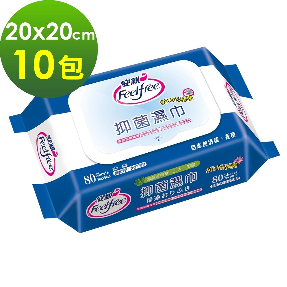 【安親】加蓋抑菌濕紙巾 濕巾 (80抽x10包) 《安安好生活》
