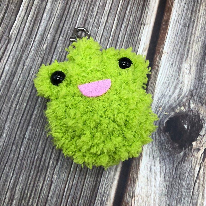 青蛙-gogoro鑰匙套 電動機車鑰匙套 鑰匙包 毛線編織鑰匙圈