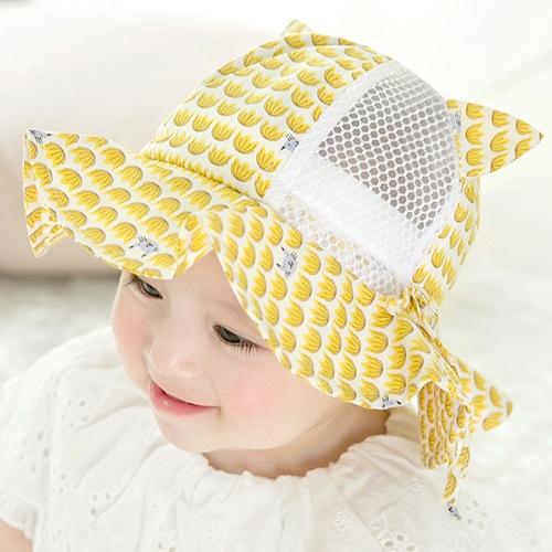 寶寶帽子夏季薄款防曬太陽帽男女兒童遮陽漁夫帽嬰幼兒春秋涼帽網