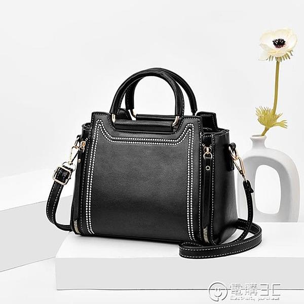 包包女包2020春夏新款潮韓版簡約時尚單肩包斜背百搭手提女包
