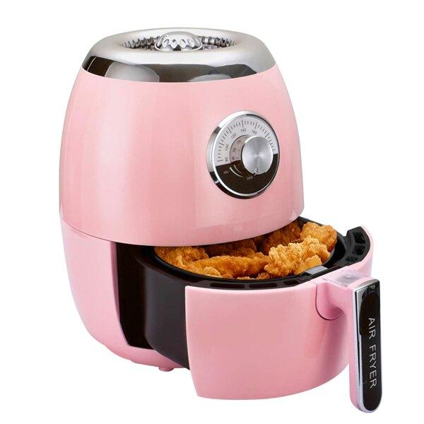 【義大利 Giaretti】健康免油陶瓷氣炸鍋-粉色(GT-A3-P)