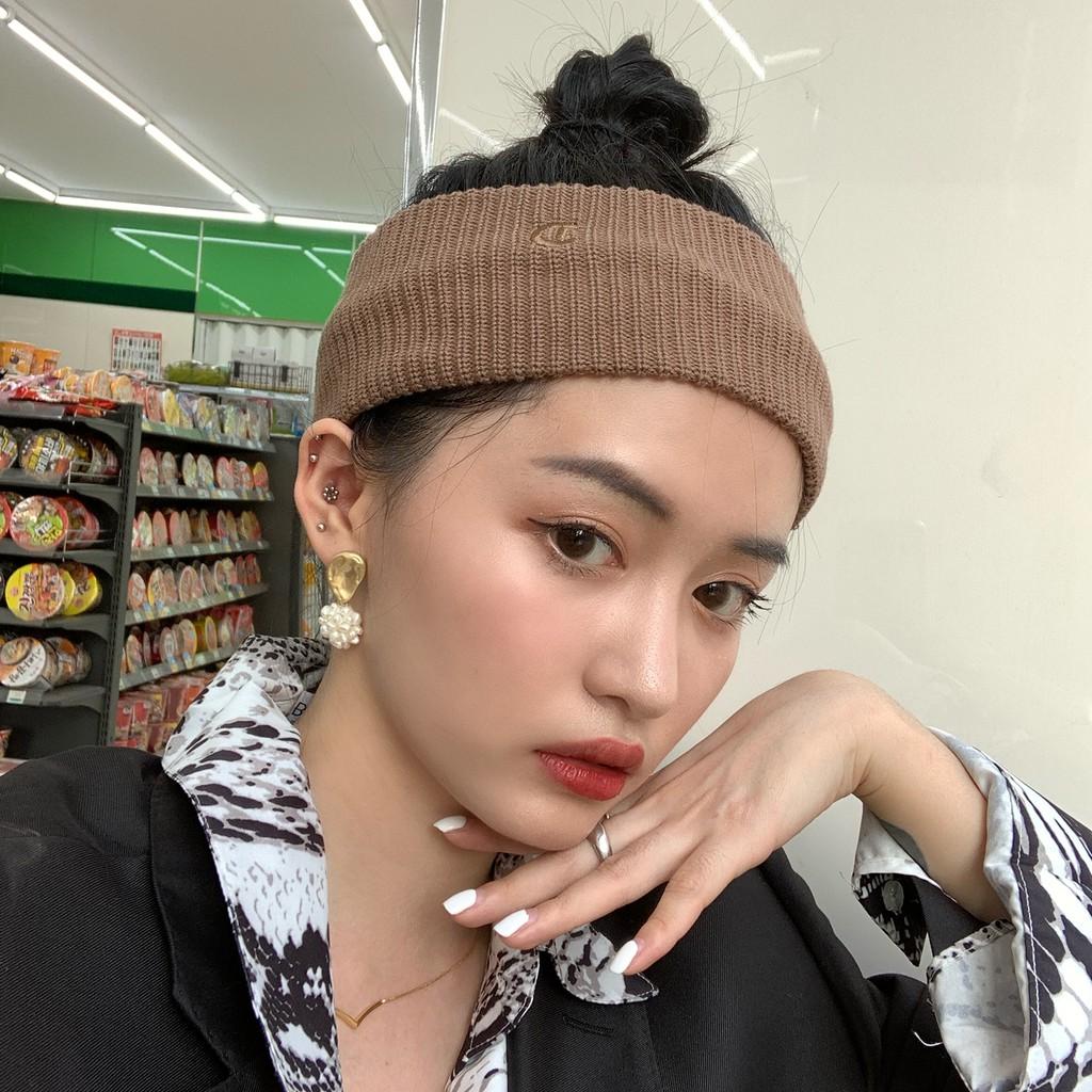 木瓜製品/針織髮帶 ins同款韓國寬邊頭帶 運動簡約素色洗臉頭箍髮飾 束髮帶