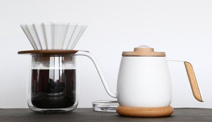 金時代書香咖啡 Simple Real TAMAGO單人咖啡手沖杯壺品味組(手沖壺+玻璃杯+濾杯組合) SR-01-3
