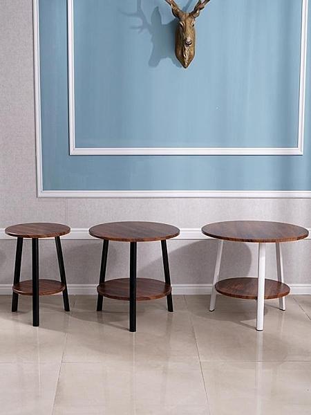邊幾現代簡約小茶幾雙層桌子沙發邊桌床頭小圓桌陽臺桌小戶型角幾 LX  曼慕