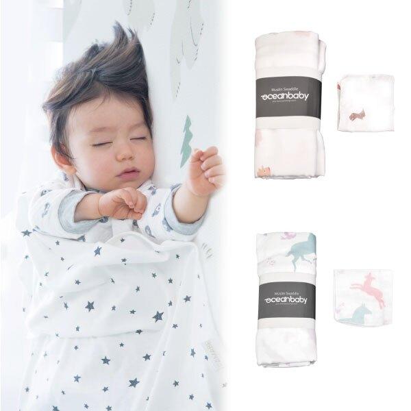 PAMABE 多功能紗布包巾-1大+4小(2款可選)