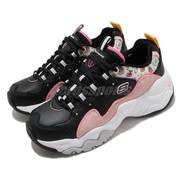 SKECHERS D Lites 3 休閒鞋 女鞋 兔兔 黑 粉 66666255BKPK