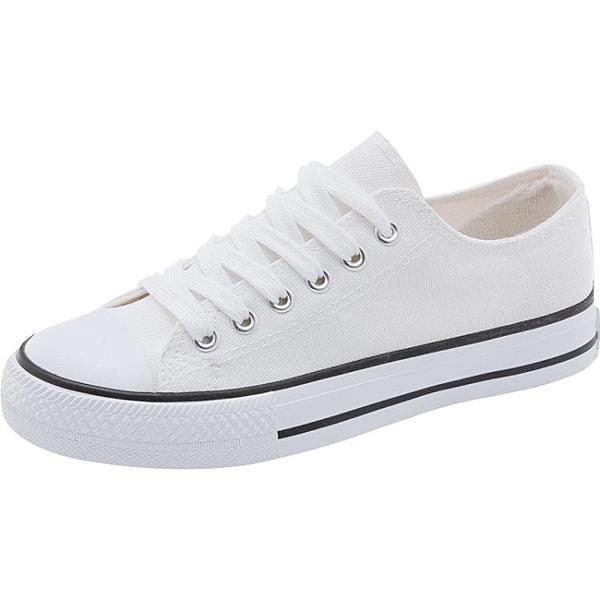 2020年新款小白帆布女鞋板鞋ulzzang韓版百搭夏季薄款爆款布鞋子 滿天星