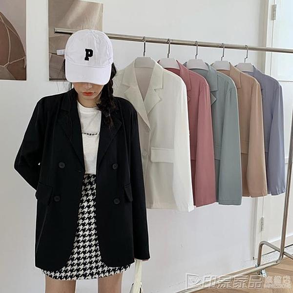 夏季2020年新款薄款黑色西裝外套女夏韓版寬鬆氣質休閒小西服上衣 印象家品