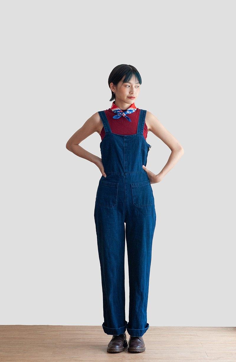Vintage / 吊帶褲 / 長褲 no.36 tk