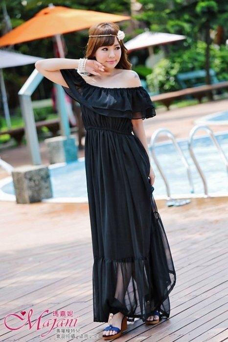 [瑪嘉妮Majani] 日系中大尺碼洋裝 沙灘裙 渡假裙 伴娘服 女神風 3種穿法  小禮服 現貨 ds-012