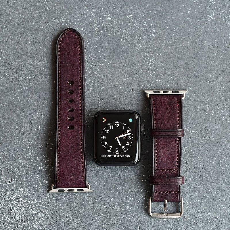 皮革 Apple Watch 錶帶 真皮 手工 禮物 38mm/40mm/42mm/44mm