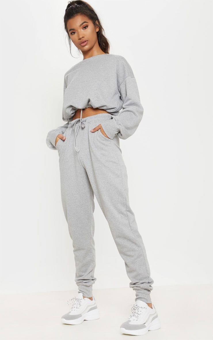 Grey Basic Gym Sweat Jogger