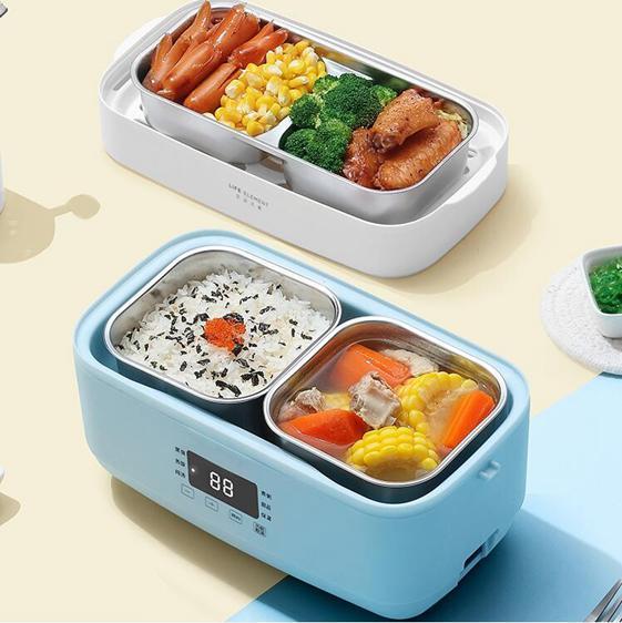 插電便當盒 電熱飯盒保溫鍋可插電自動加熱蒸煮帶飯熱飯菜神器上班族