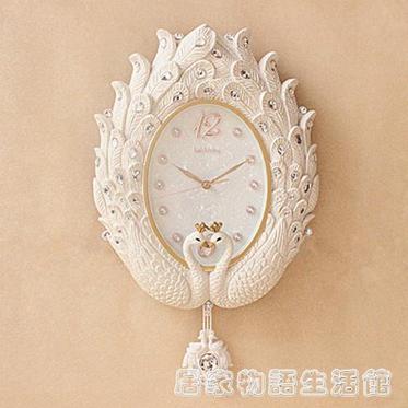 歐式掛鐘客廳鐘表創意時尚靜音藝術簡約時鐘豪華掛表  夏洛特居家名品