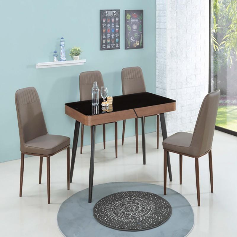 sa373-1 黑玻造型餐桌
