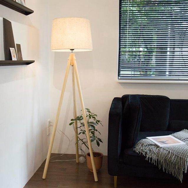 落地燈臥室客廳辦公室簡約現代北歐日式實木溫馨立式三角創意個性YYP ciyo黛雅 秋冬新品特惠