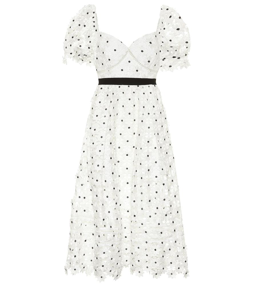 Bridal Daisy guipure-lace midi dress