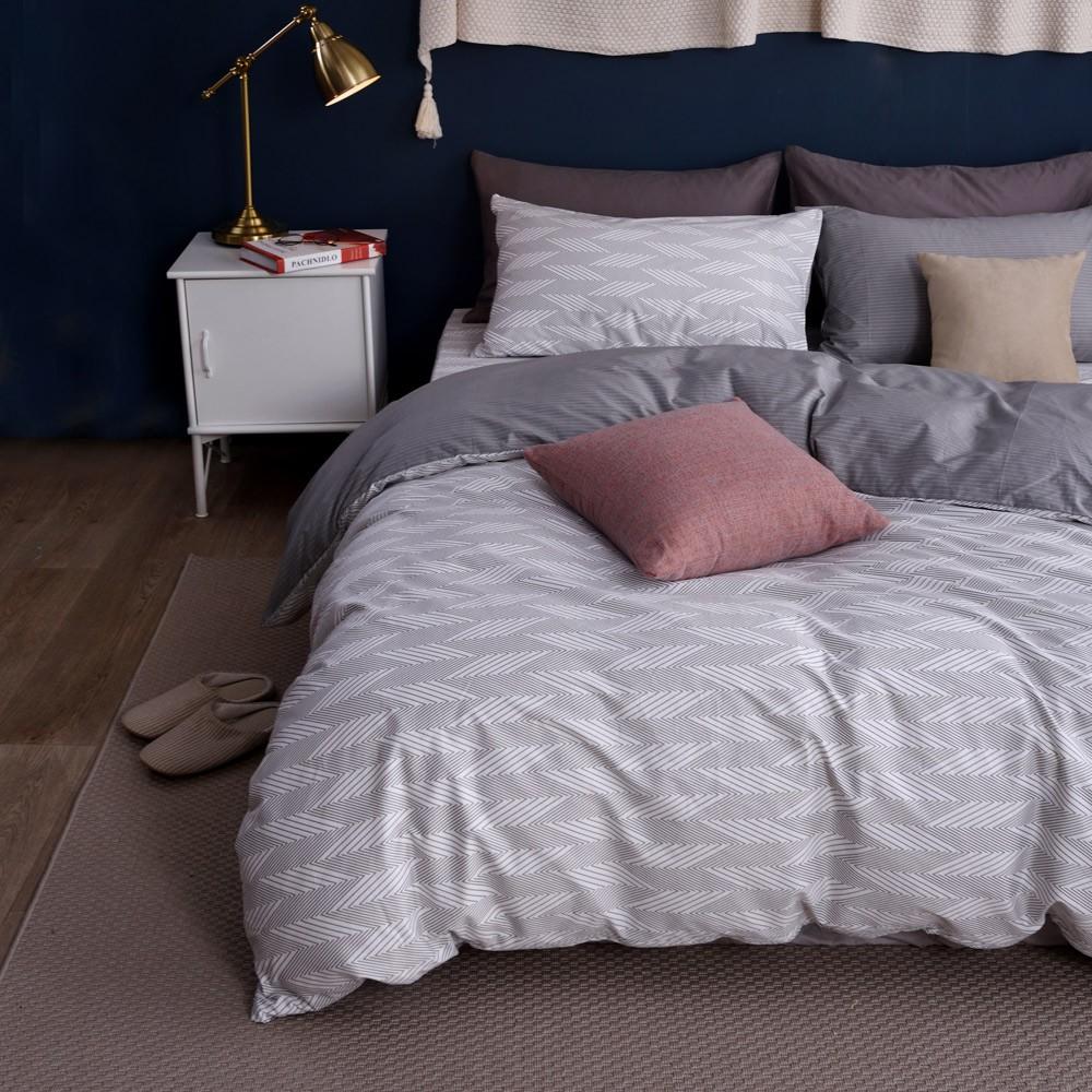 織眠家族|200織精梳純棉被套床包組-靜謐歲月