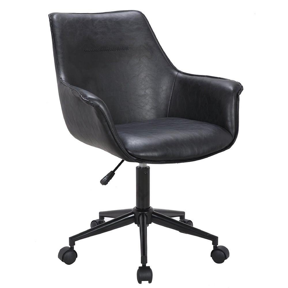 E-home Faux福克斯造型扶手復古電腦椅 兩色可選