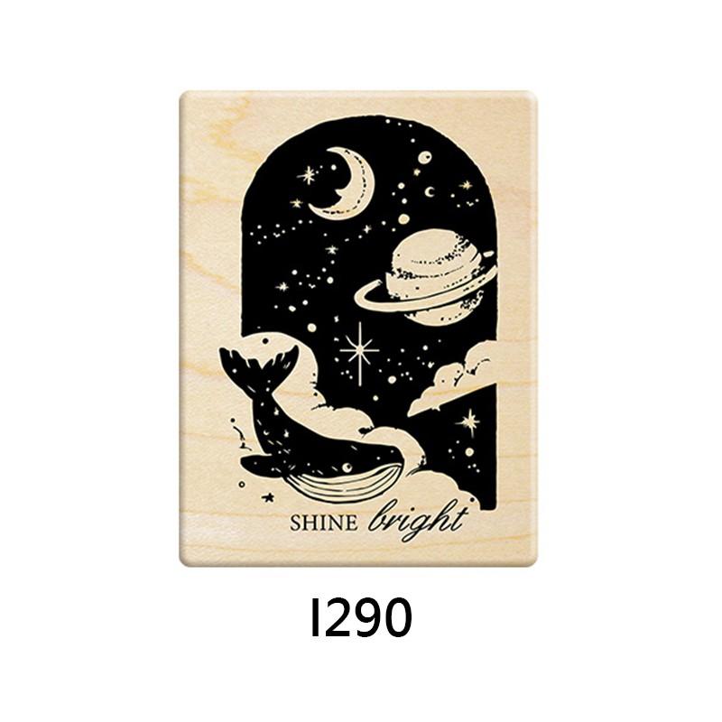 Micia 楓木印章-約定的夢幻島 鯨魚星空窗戶 (I290)