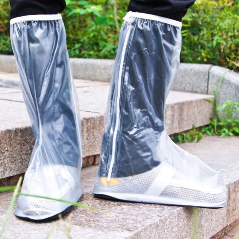防護鞋套防滑耐磨加厚底鞋套防水防滑雨鞋長筒鞋套兒童防雨鞋子套ca002