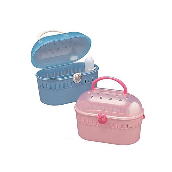 寵物家族-日本IRIS-IR-HQ-250鼠用外出提籃-(粉/藍)