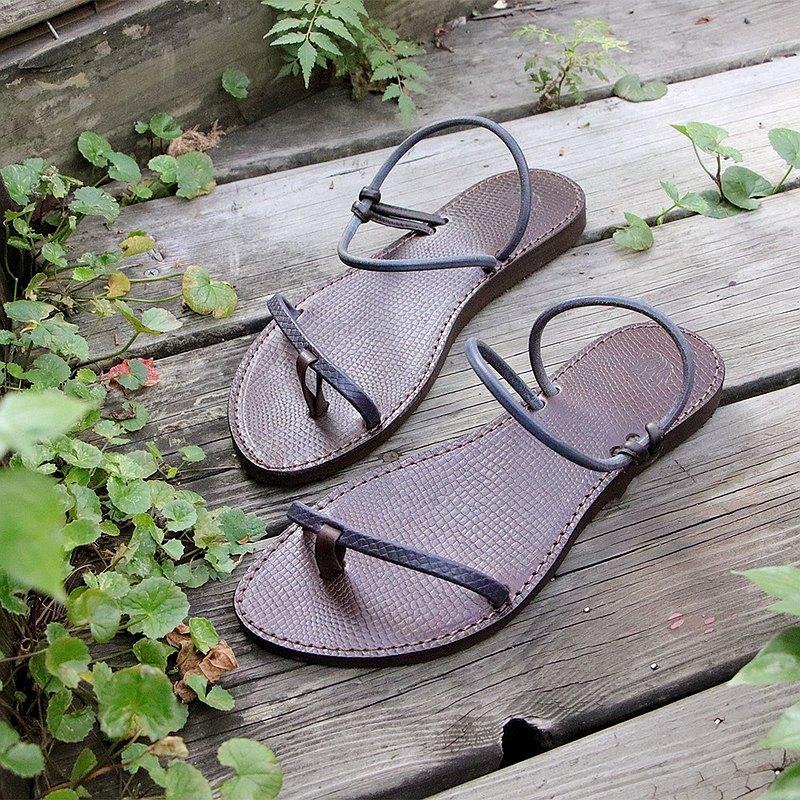 牛仔 - 單線夾腳涼拖鞋 #U6-2