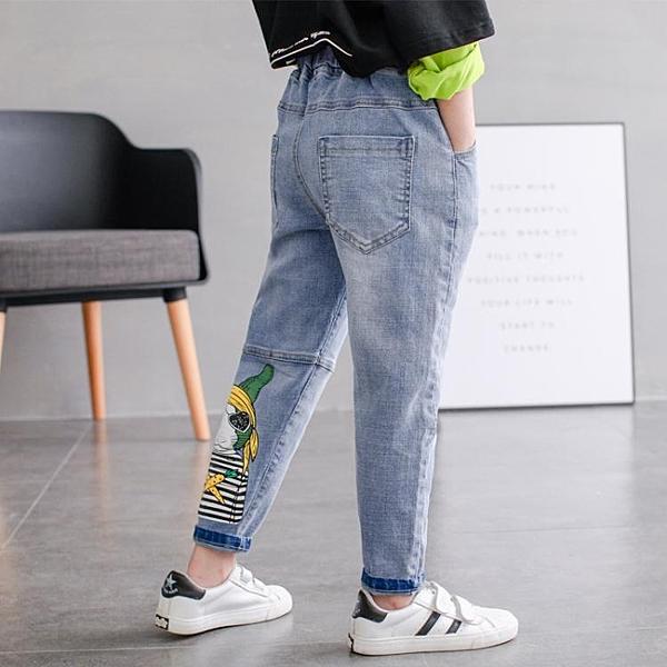 童裝夏裝薄款男童牛仔褲寶寶夏季洋氣褲子兒童修身男孩小腳褲 快速出貨