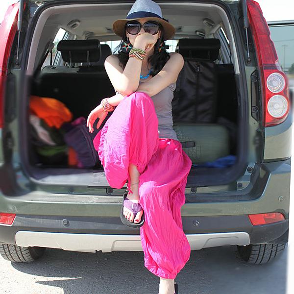 飛鼠褲燈籠褲女夏春印度民族風寬鬆大碼休閒褲長褲子尼泊爾闊腿褲大襠褲亞斯藍