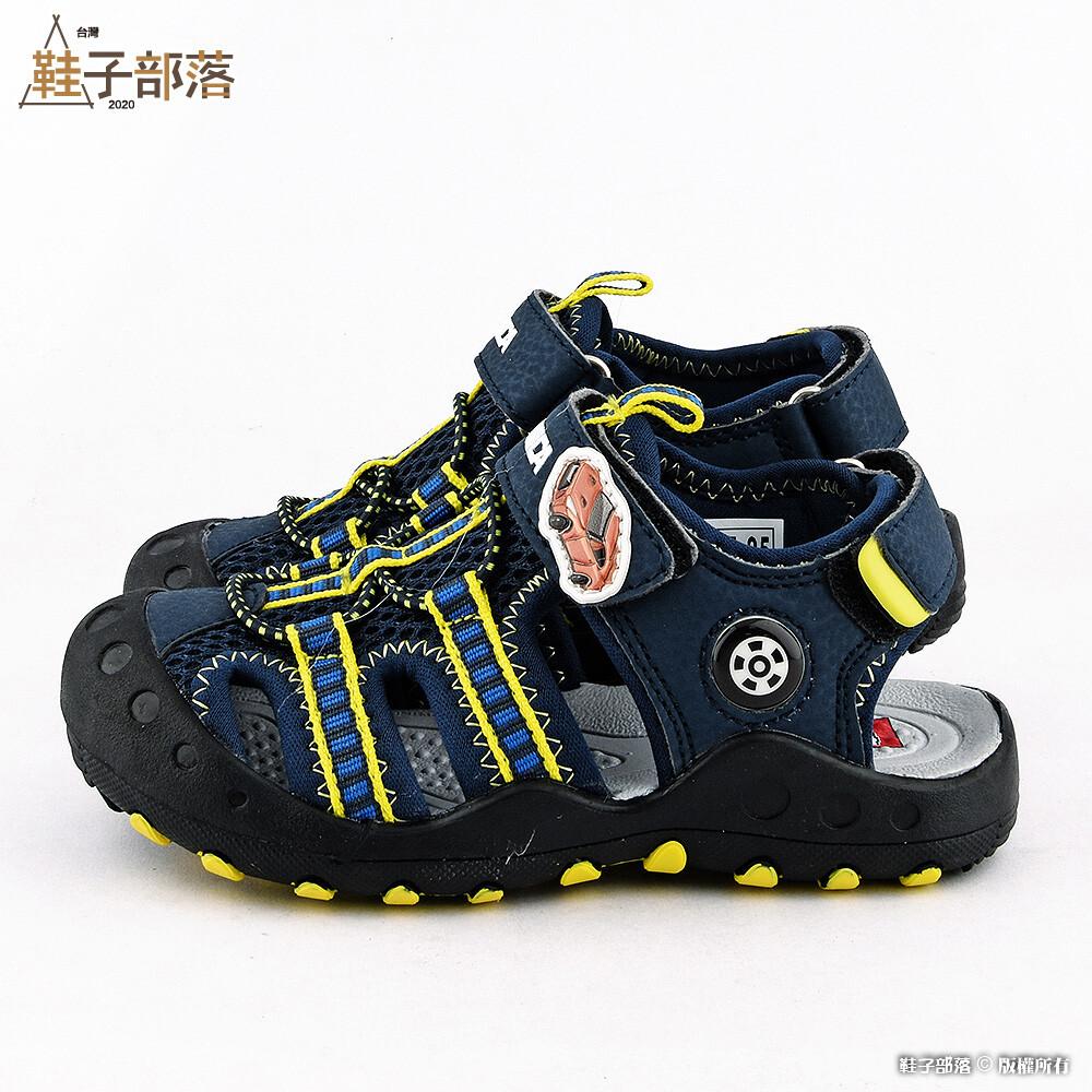鞋子部落tomica多美小汽車 護趾運動涼鞋 tm3612 藍