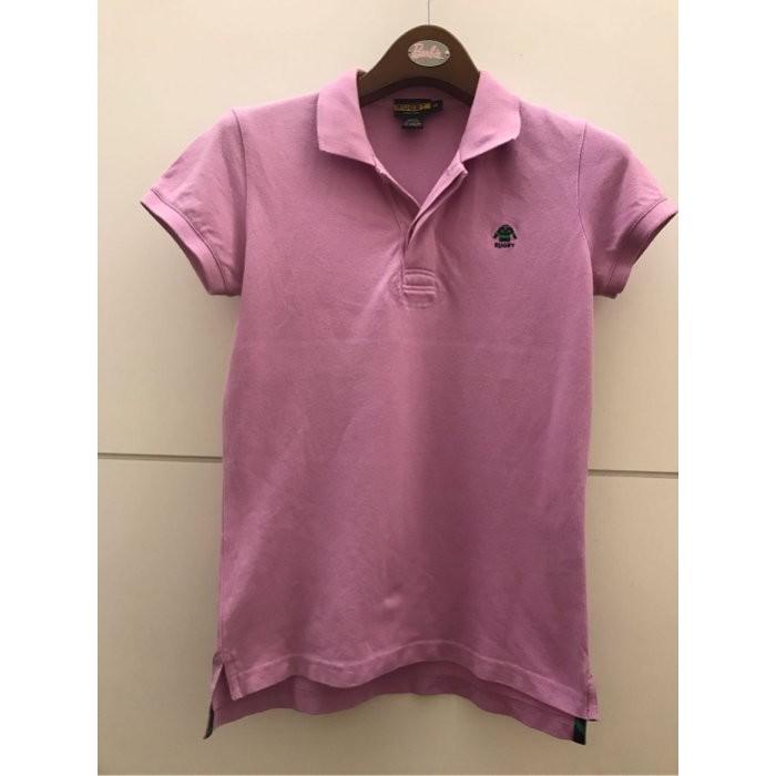 清衣櫃~~8.5成新 Ralph Lauren 淺紫色 短袖 可愛 Rugby 網眼 polo 衫 (size: M)